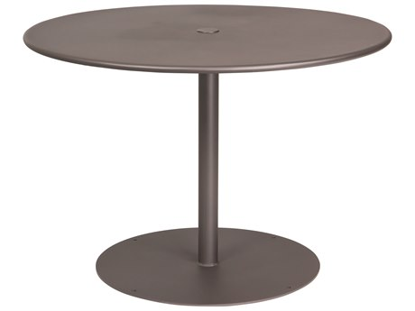Woodard Wrought Iron ADA 42''Wide Round Dining Table with Umbrella Hole