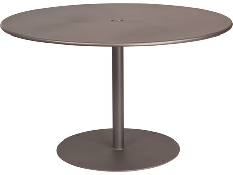 Woodard Wrought Iron ADA 48''Wide Round Dining Table with Umbrella Hole