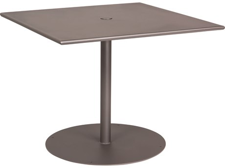 Woodard Wrought Iron 36''Wide Square Bistro Table with Umbrella Hole