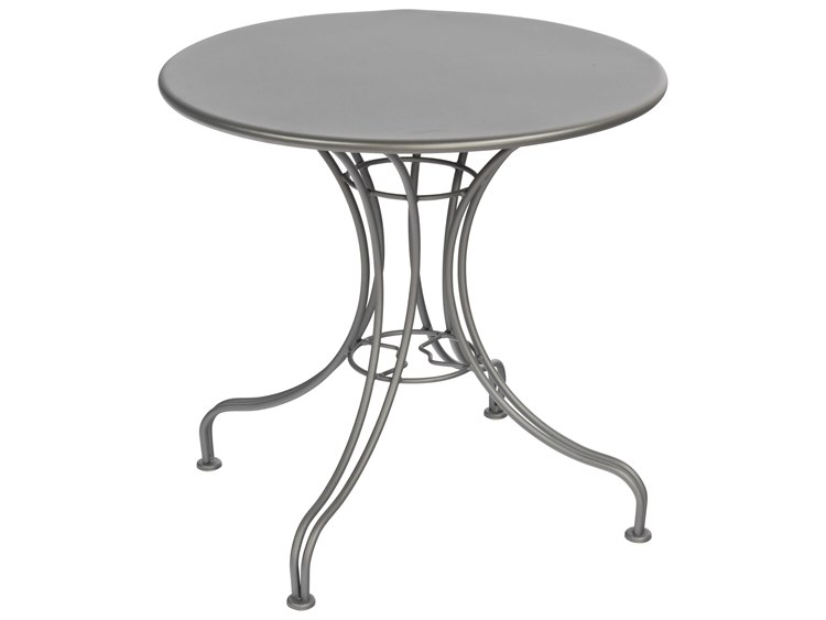 Woodard Wrought Iron 30''Wide Round Bistro Table PatioLiving