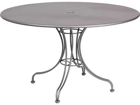 Woodard Wrought Iron 48 Round Table with Umbrella Hole