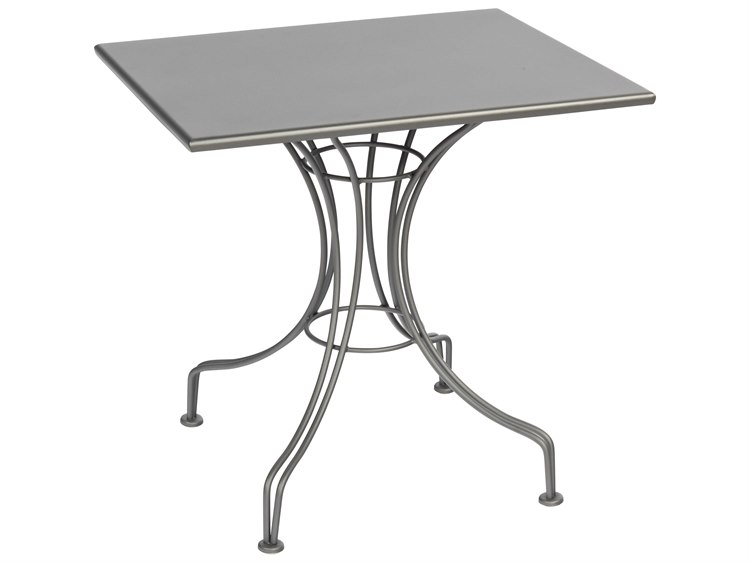 Woodard Wrought Iron 30''W x 24''D Rectangular Bistro Table PatioLiving