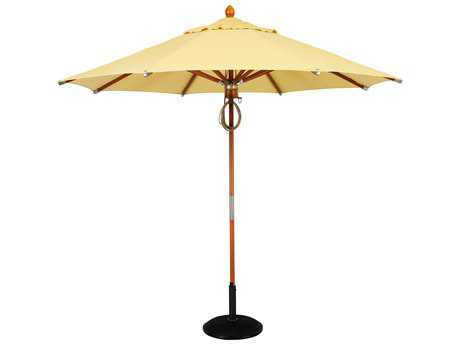 Woodard 9 Foot Octagonal Pulley Lift Umbrella PatioLiving