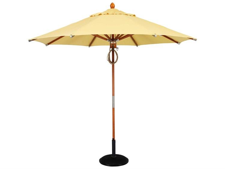Woodard 9 Foot Octagonal Pulley Lift Umbrella PatioLiving