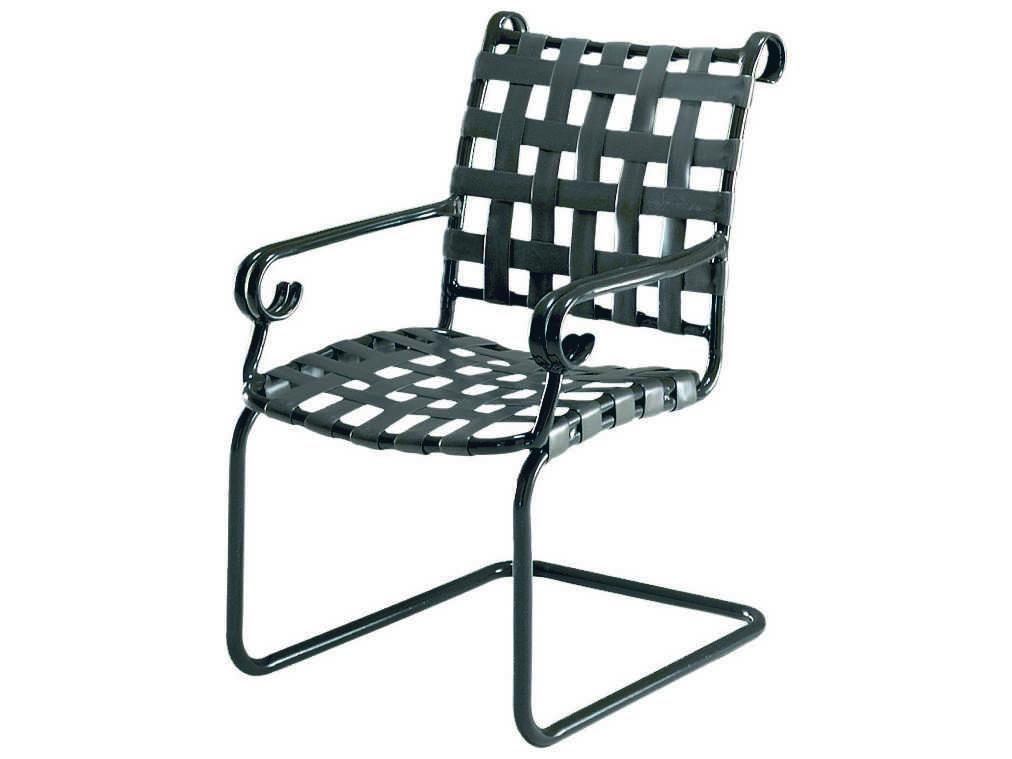 Woodard Ramsgate Strap Spring Base Dining Arm Chair