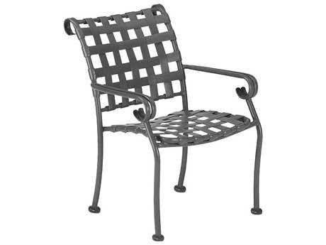 Woodard Ramsgate Aluminum Strap Stackable Dining Chair