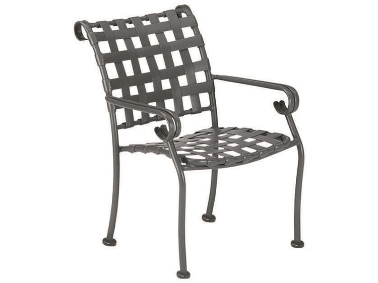 Woodard Ramsgate Aluminum Stackable Dining Arm Chair PatioLiving