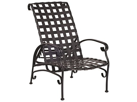 Woodard Ramsgate Aluminum Adjustable Lounge Chair w/ Seat & Back Cushion