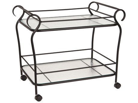 Woodard Ramsgate Aluminum Serving Cart PatioLiving