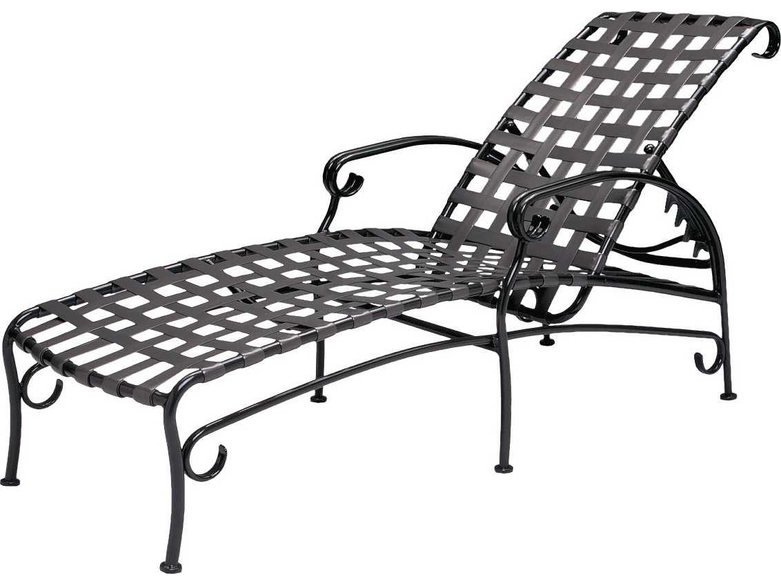 Woodard ramsgate aluminum adjustable chaise lounge 16m470 for Chaise lounge aluminum