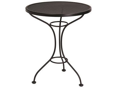 Woodard Parisienne Wrought Iron 25''Wide Round Mesh Top Bistro Table