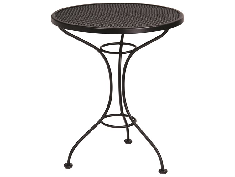 Woodard Parisienne Wrought Iron 25 Round Mesh Top Bistro Table PatioLiving