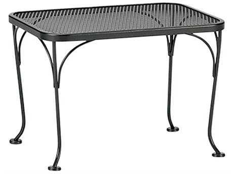 Woodard Wrought Iron Mesh 24 x 18 Rectangular End Table
