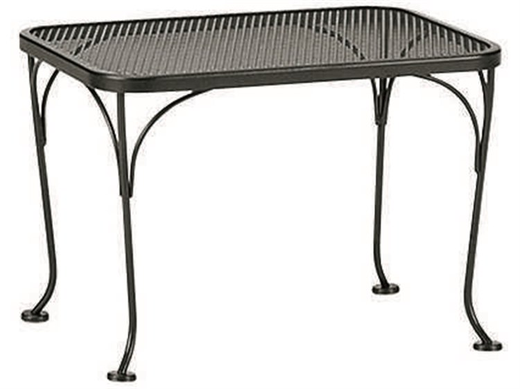 Woodard Wrought Iron Mesh 24 x 18 Rectangular End Table