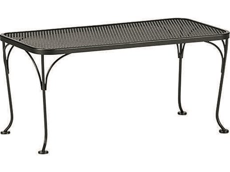 Woodard Wrought Iron Mesh 36''W x 18''D Rectangular Coffee Table