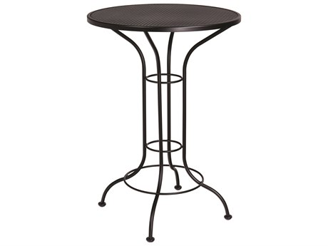 30'' Round Mesh Top Bar Height Table
