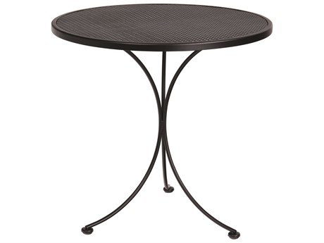 Woodard Wrought Iron Mesh 30''Wide Round Bistro Table