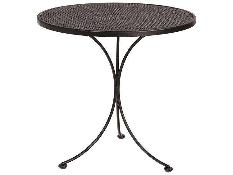 Woodard Mesh Wrought Iron 30 Round Bistro Table PatioLiving