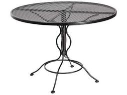 Mesh Wrought Iron 48 Round Curved Legs Table with Umbrella Hole