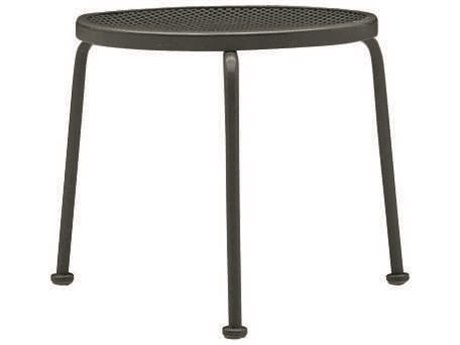 Woodard Mesh Wrought Iron 17 Round End Table