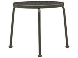 Mesh Wrought Iron 17 Round End Table
