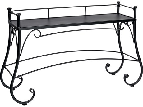 Woodard Wrought Iron 56.25 x 17.75 Rectangular Solid Top Console Table