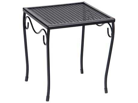 Woodard Wrought Iron 12.5 Square Small End Table