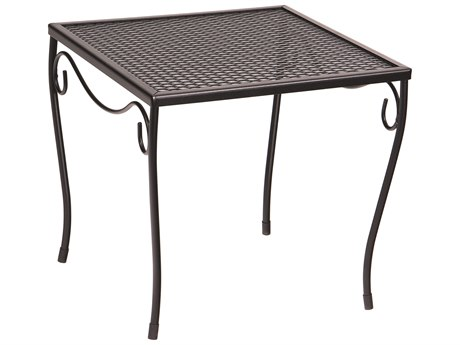 Woodard Wrought Iron Mesh 16''Wide Square Medium End Table
