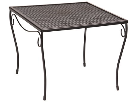 Woodard Wrought Iron Mesh 19''Wide Square Large End Table