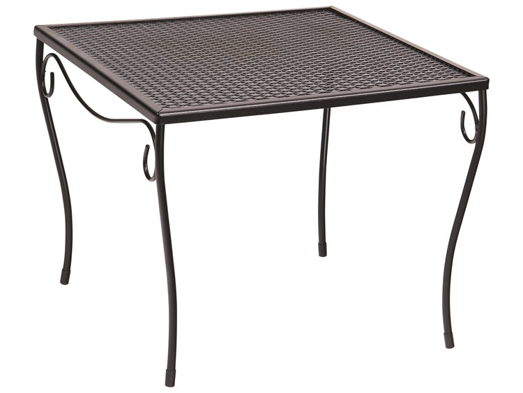 Woodard Wrought Iron 19.5 Square Large End Table