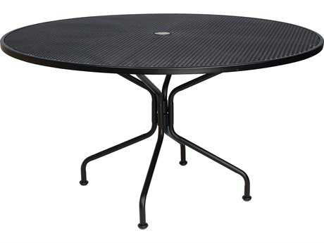 Woodard Wrought Iron 54 Round 8-Spoke Table with Umbrella Hole