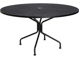 Wrought Iron 54 Round 8-Spoke Table with Umbrella Hole