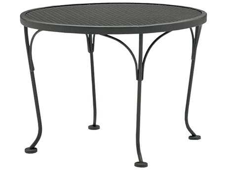 Woodard Mesh Wrought Iron 24 Round End Table