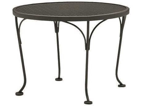 WoodardWrought Iron Mesh 24''Wide Round End Table
