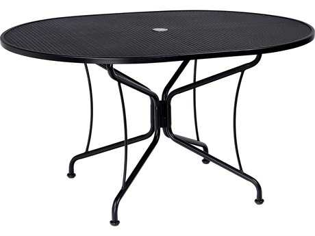 woodard mesh wrought iron 36 x 24 rectangular dining table wr280047. Black Bedroom Furniture Sets. Home Design Ideas