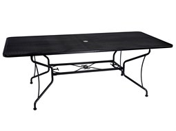 84'' x 42'' Rectangular Mesh Table with Umbrella Hole