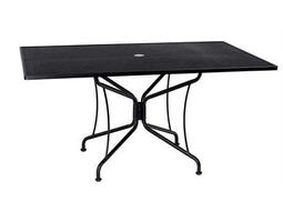 Wrought Iron 84 x 42 Rectangular 8 Spoke Table with Umbrella Hole