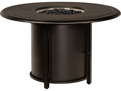 Woodard Universal Aluminum Square Dining Height Fire Table Base with Round Burner