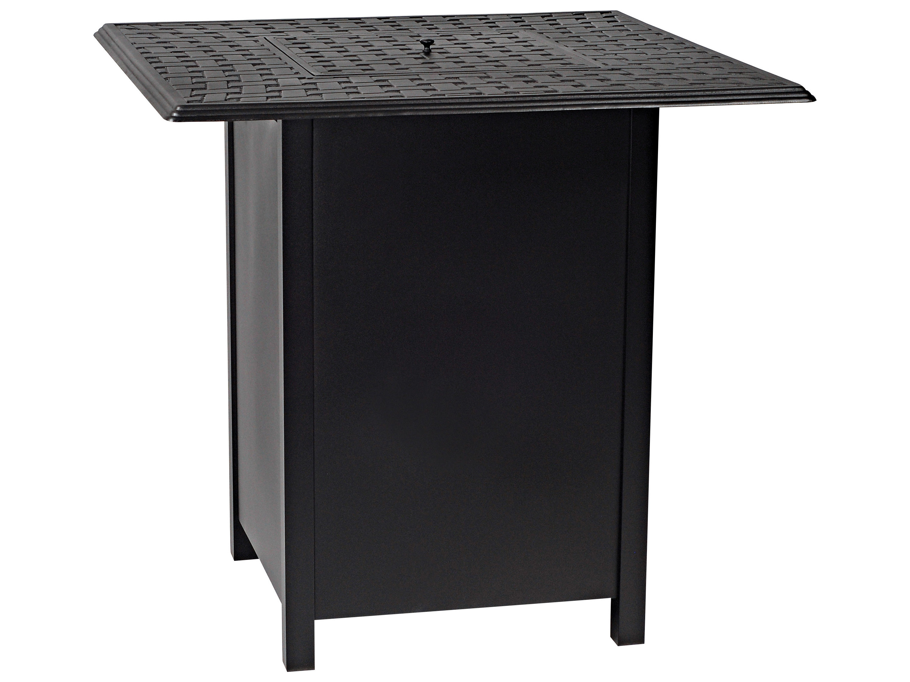 woodard aluminum square bar height fire table base with square burner 1cm3sqsb. Black Bedroom Furniture Sets. Home Design Ideas