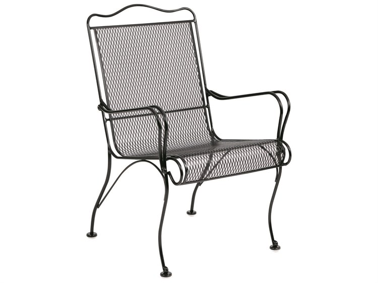 Woodard Tucson Wrought Iron High Back Dining Chair