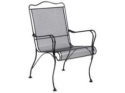 Tucson Wrought Iron High Back Arm Dining Chair
