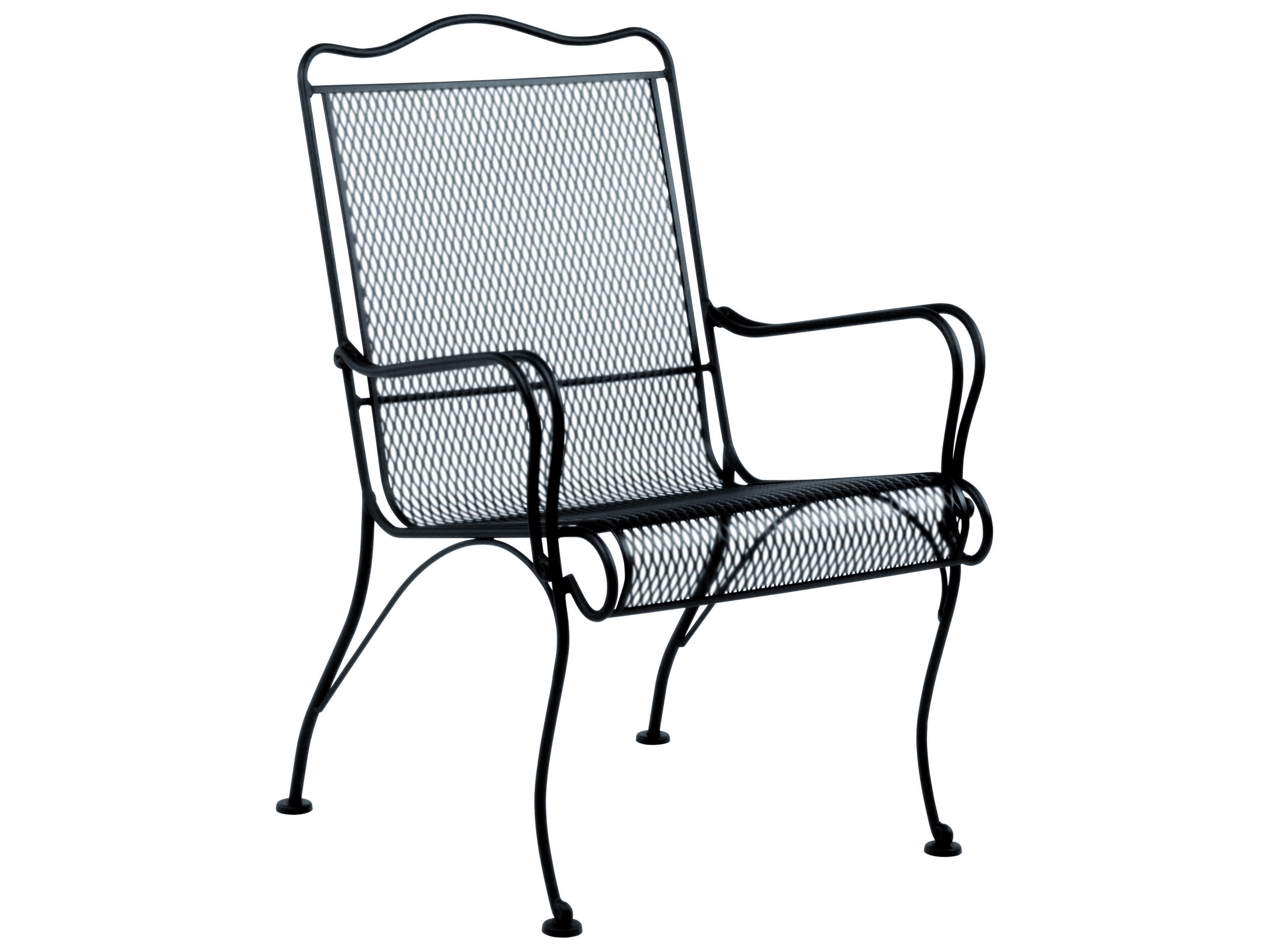 Woodard Tucson Wrought Iron High Back Lounge Chair