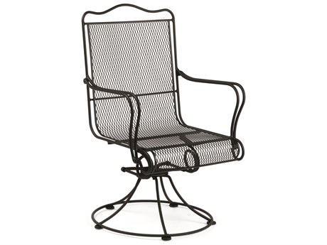 High Back Swivel Rocker Dining Chair - No Cushion