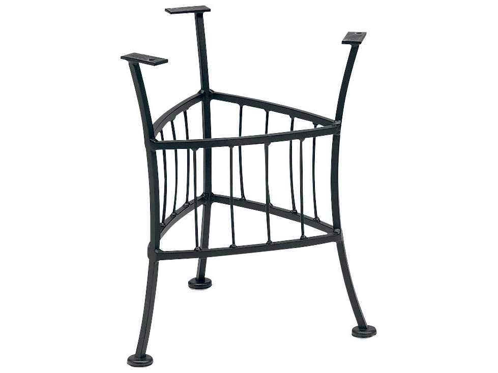 Woodard easton wrought iron end table base only wr1n2400 for Outdoor table bases wrought iron