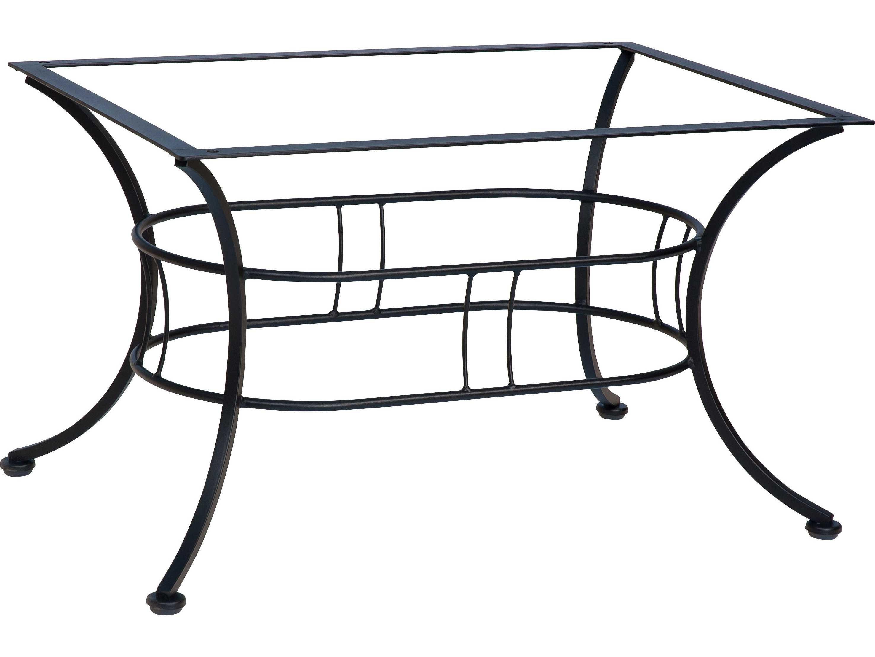 Woodard easton wrought iron coffee table base wr1n4500 for Wrought iron coffee table base