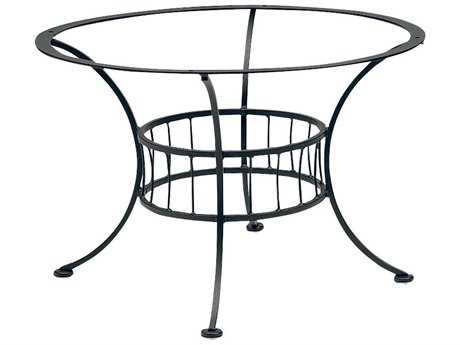 Woodard Easton Wrought Iron Chat Table Base Only