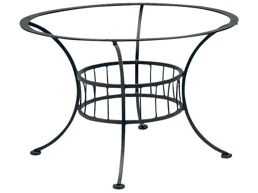 Woodard easton wrought iron chat table base only wr1n5400 for Outdoor table bases wrought iron