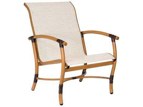 Woodard Glade Isle Sling Aluminum Adjustable Chaise Lounge