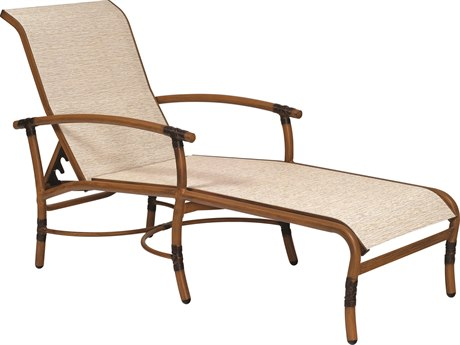 Woodard Glade Isle Sling Aluminum Adjustable Chaise Lounge