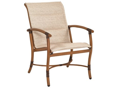 Woodard Glade Isle Padded Sling Aluminum Dining Arm Chair